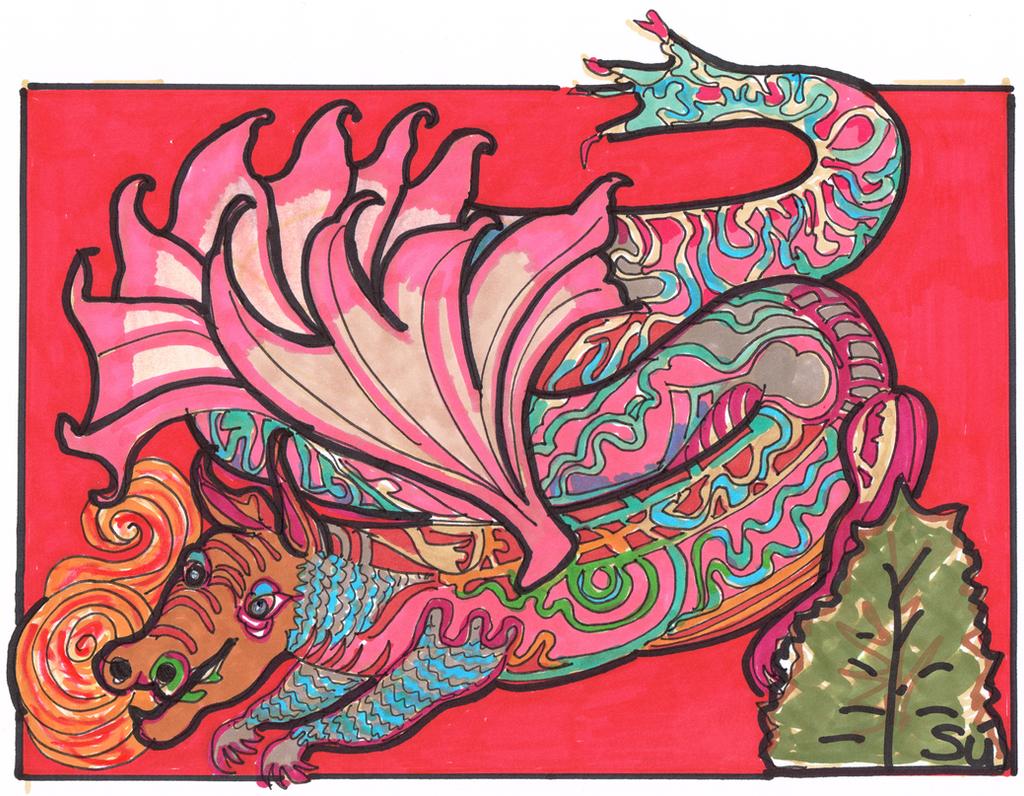 Myth- Chinese Dragon 600dpi by exclusivelysu