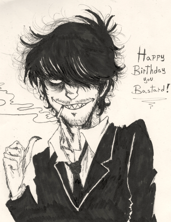 Happy Birthday Murdoc! by jhgmz