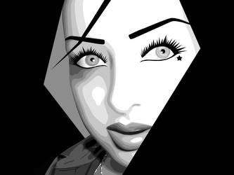 vector - black - white by annalyzed