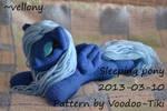Sleeping pony plush toy