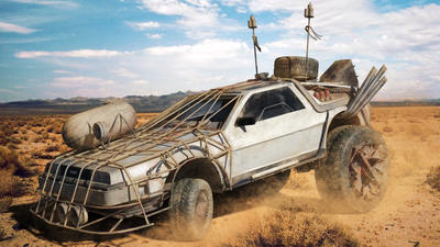 Mad Max Back to the future Delorean by datalist