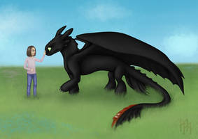 Julka and Toothless