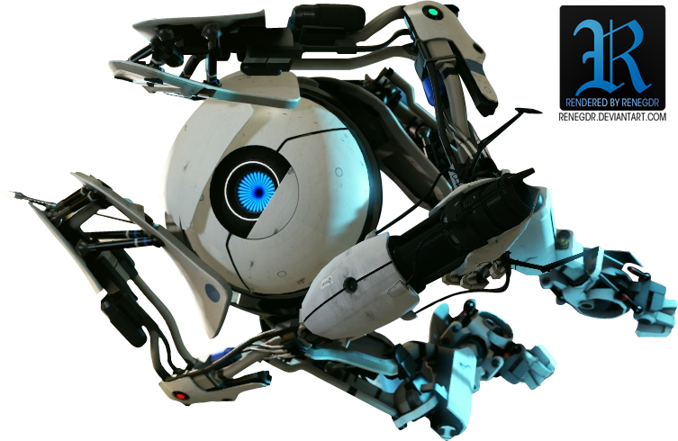 Portal 2 'Atlas' Render by Renegdr