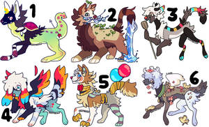 Set priced adopts (closed) by SoxzTheWolf