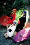 ayanami,  asuka y misato