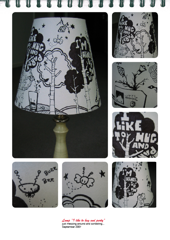 I like to hug lamp by CAML