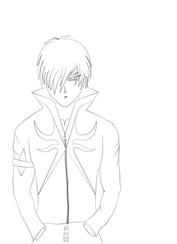Lineart Anime Boy : Anime boy lineart by hajkafro on deviantart
