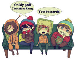 South Park:club sofa by sujk0823