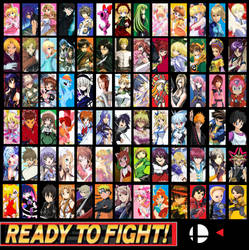 Super Smash Anime Bros Ultimate Everyone is HERE! by ayumuobessed
