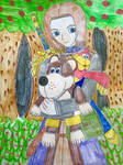 Super Smash Bros  The Hero and Banjo and Kazooie by ayumuobessed