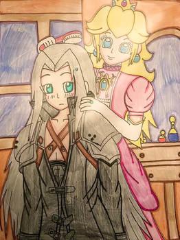 Peach gets Sephiroth ready for the presentation