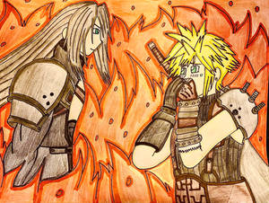 FF7 remake Cloud encounters Sephiroth