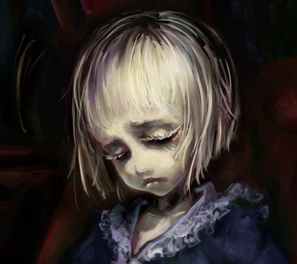 Sad girl Painting By me by HelloPandaz on DeviantArt