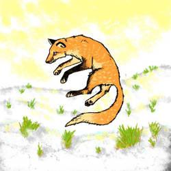 Fox drawing on phone