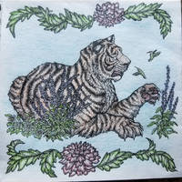 Coloured Tiger Card
