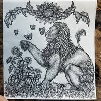 The Lion and The Sunflowers
