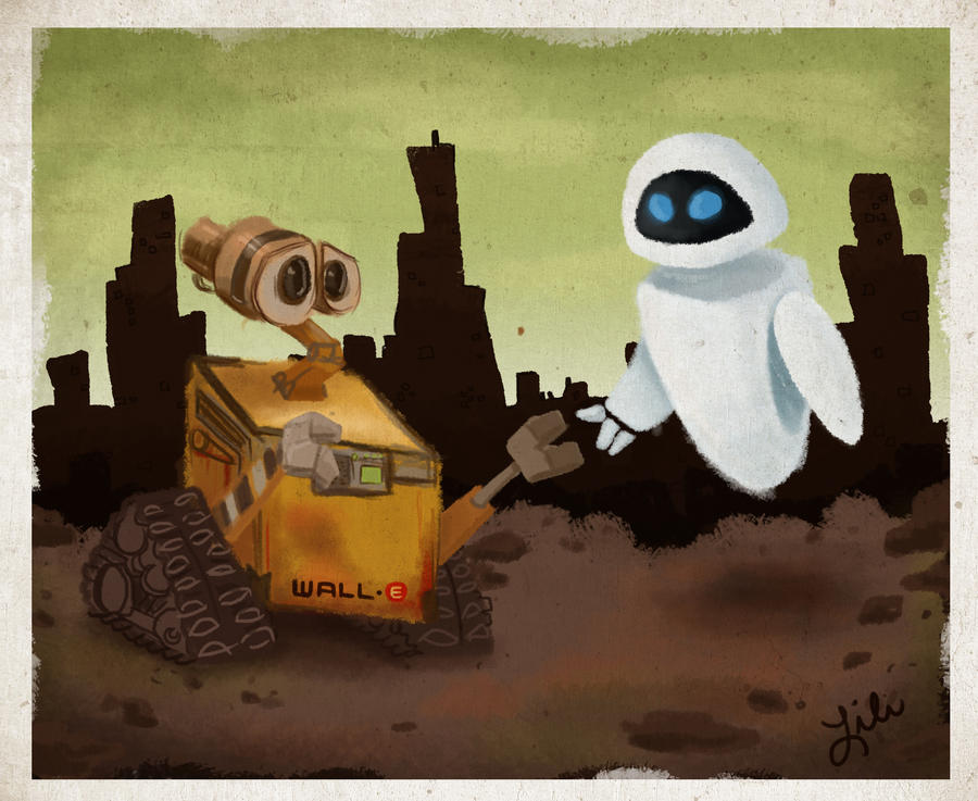 Wall E and Eve by liliribs
