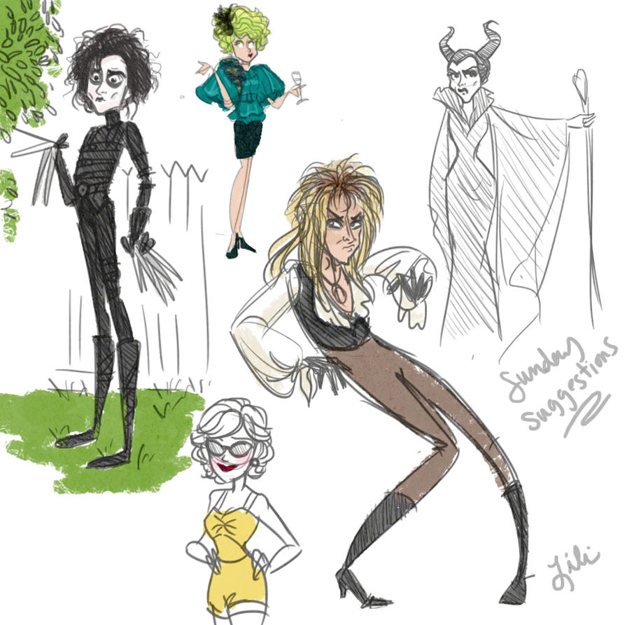 Sunday Characters by liliribs