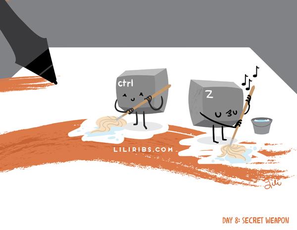 30DDC Day 8: Secret Weapon by liliribs