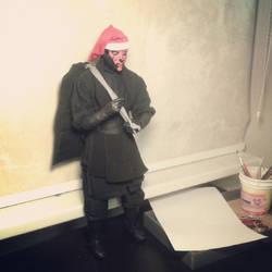 Darth Maul OOAK art doll Santa Claus