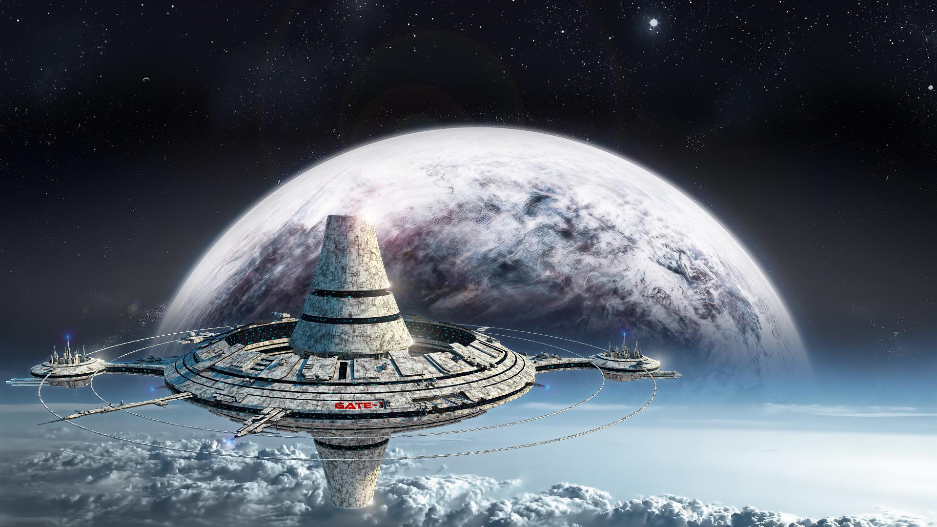 Space Station by freiheitskampfer on DeviantArt