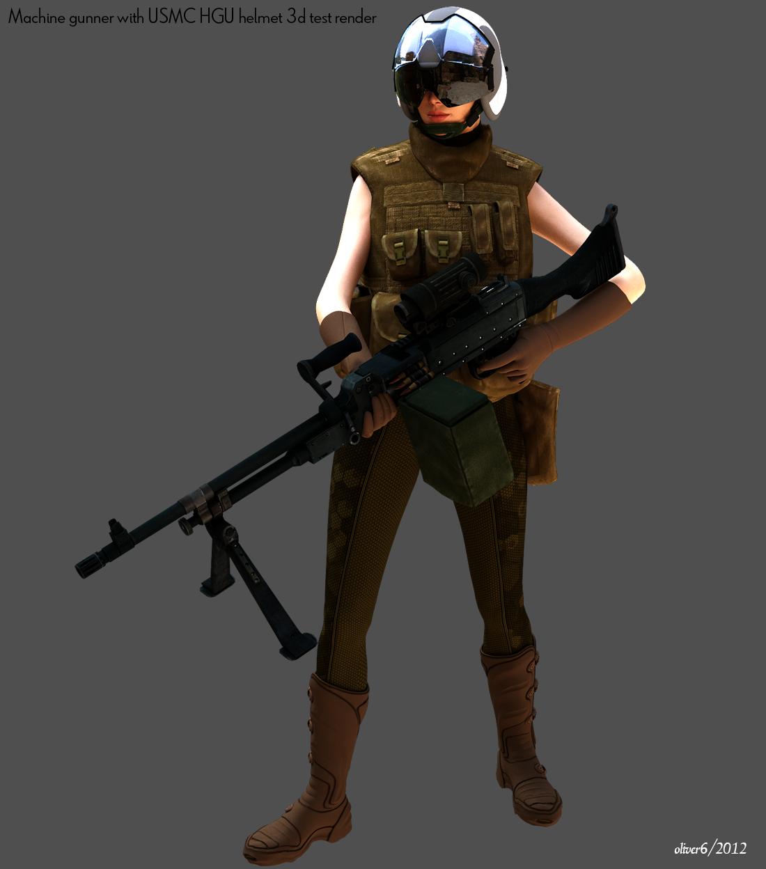 Machine gunner with USMC HGU Helmet by freiheitskampfer on DeviantArt