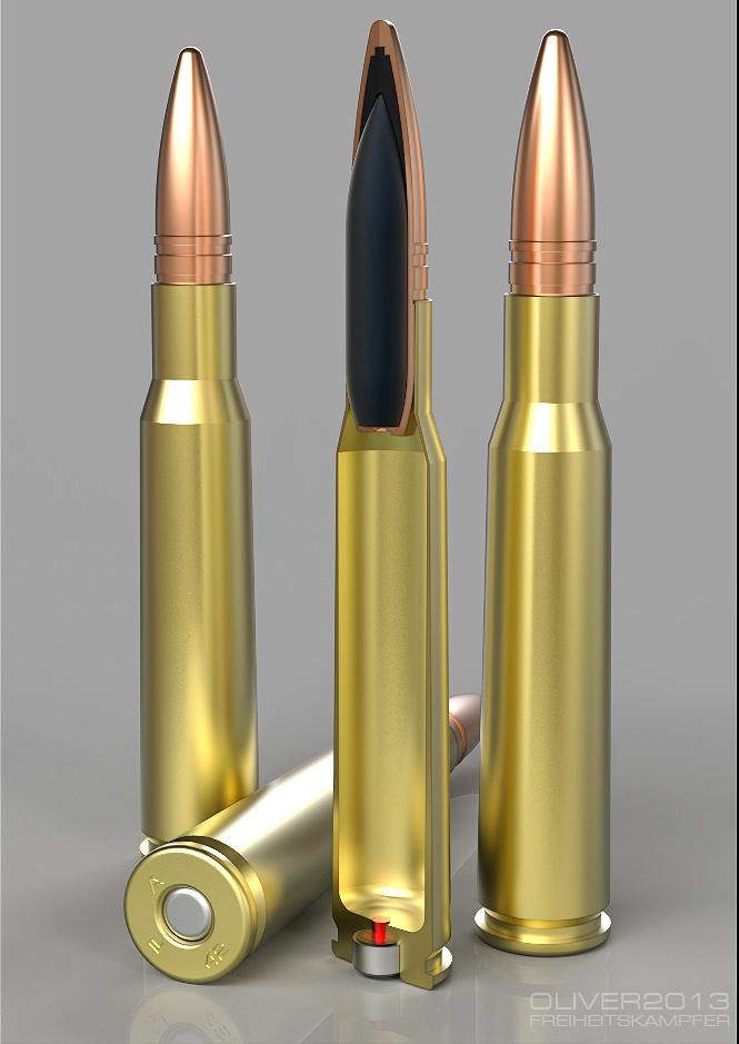M2HB Ammo test render by freiheitskampfer on DeviantArt