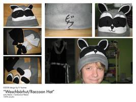 OMG teh raccoon hat by biku-no-kiba