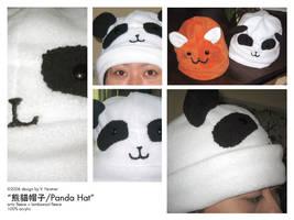 OMG TEH PANDA HAT by biku-no-kiba