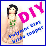 Free DIYPolymer Clay Bride Cake Topper Part1 by NantiaArt