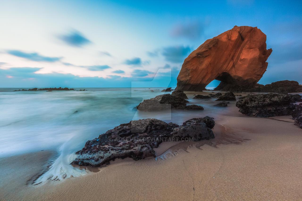penedo do guincho - portugal, santa cruz beach