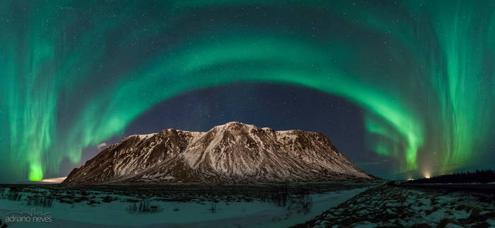 Northern Lights over the Milky Way
