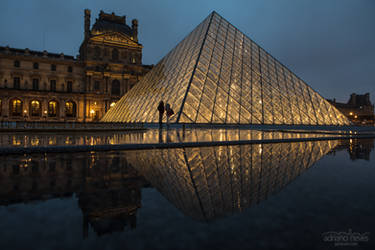 Louvre and the Rain - France, Paris by acseven