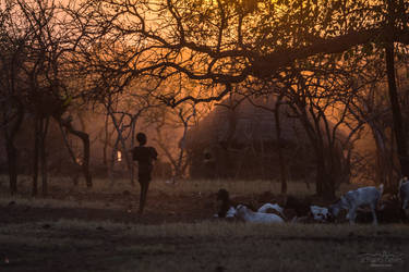Sundown at the Mursi Village - Ethiopia by acseven