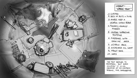 Blood of Asterion: Large Tent Layout by BATTLEFAIRIES