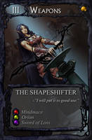Card art: the Shapeshifter by BATTLEFAIRIES