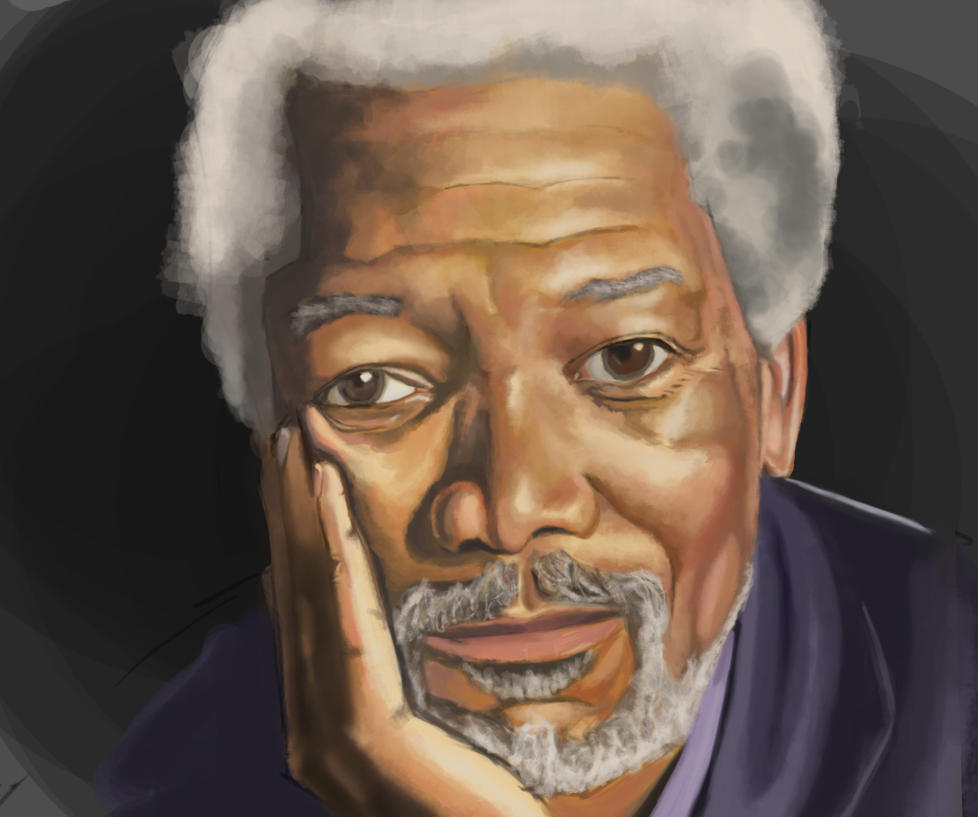 Morgan Freeman (Digital Painting) by canoonMarch