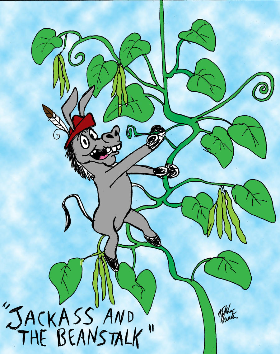 Donkey Puns Series: Jackass and the Beanstalk