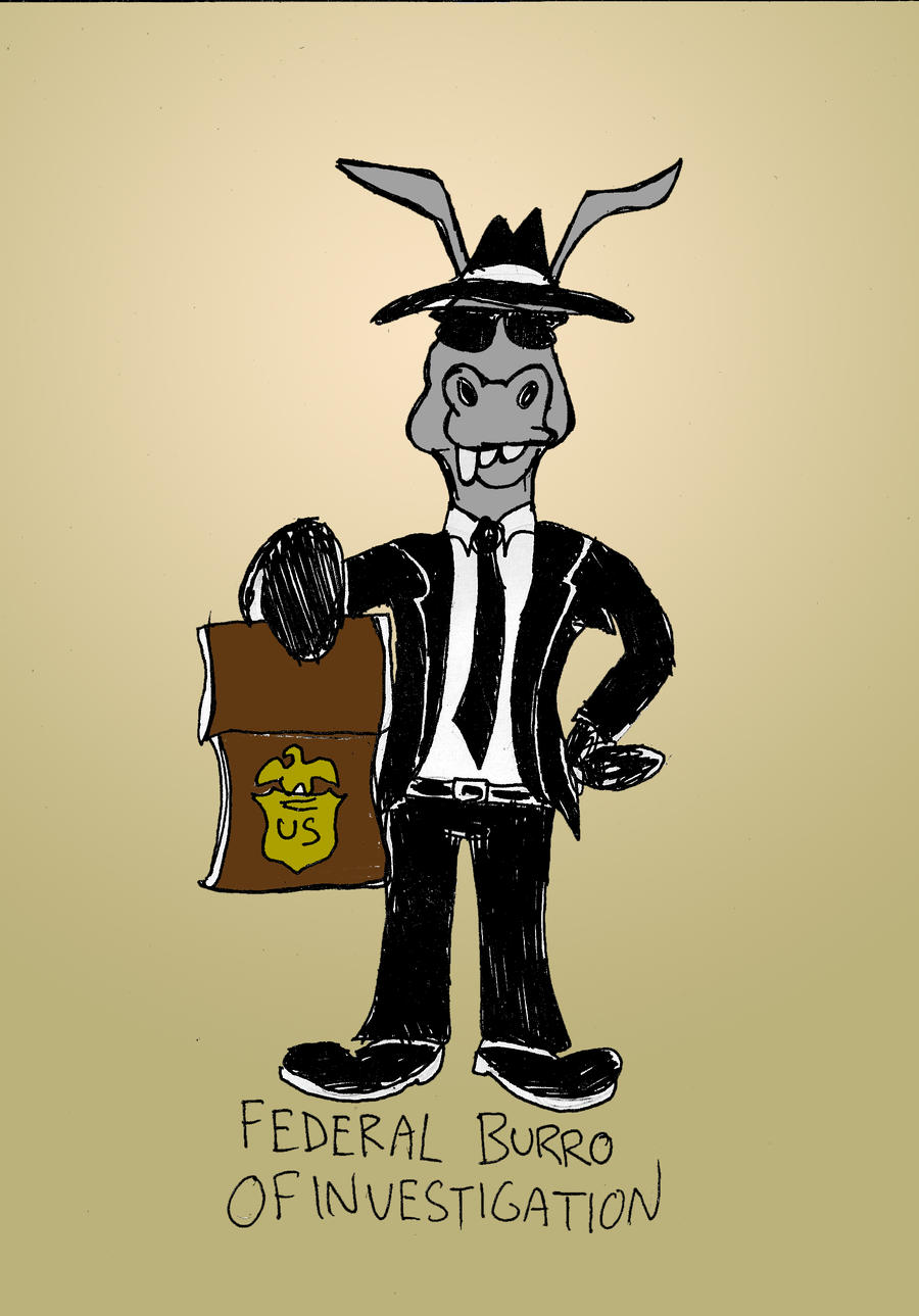 Donkey Puns Series: Federal Burro of Investigation by MatthewHunter