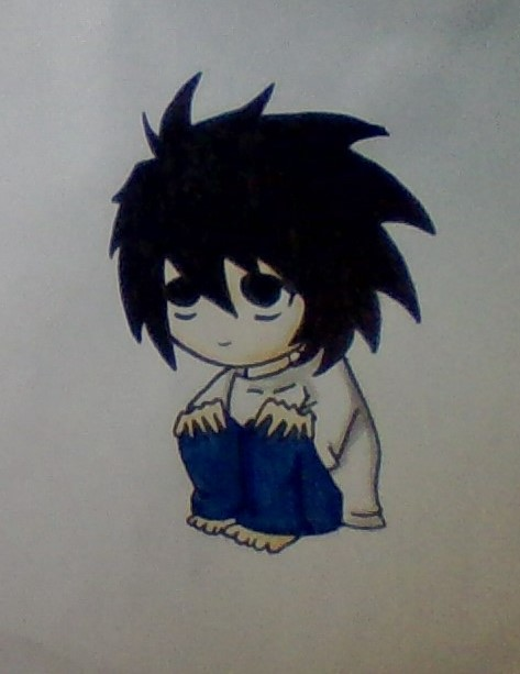 Death note: L cute chibi (coloured) by moustachemovies on ...