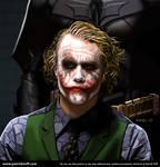 Heath Ledger as the Joker by patricktoifl