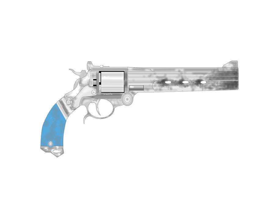 My custom three-gun(colored) by TheLivingRedBaron