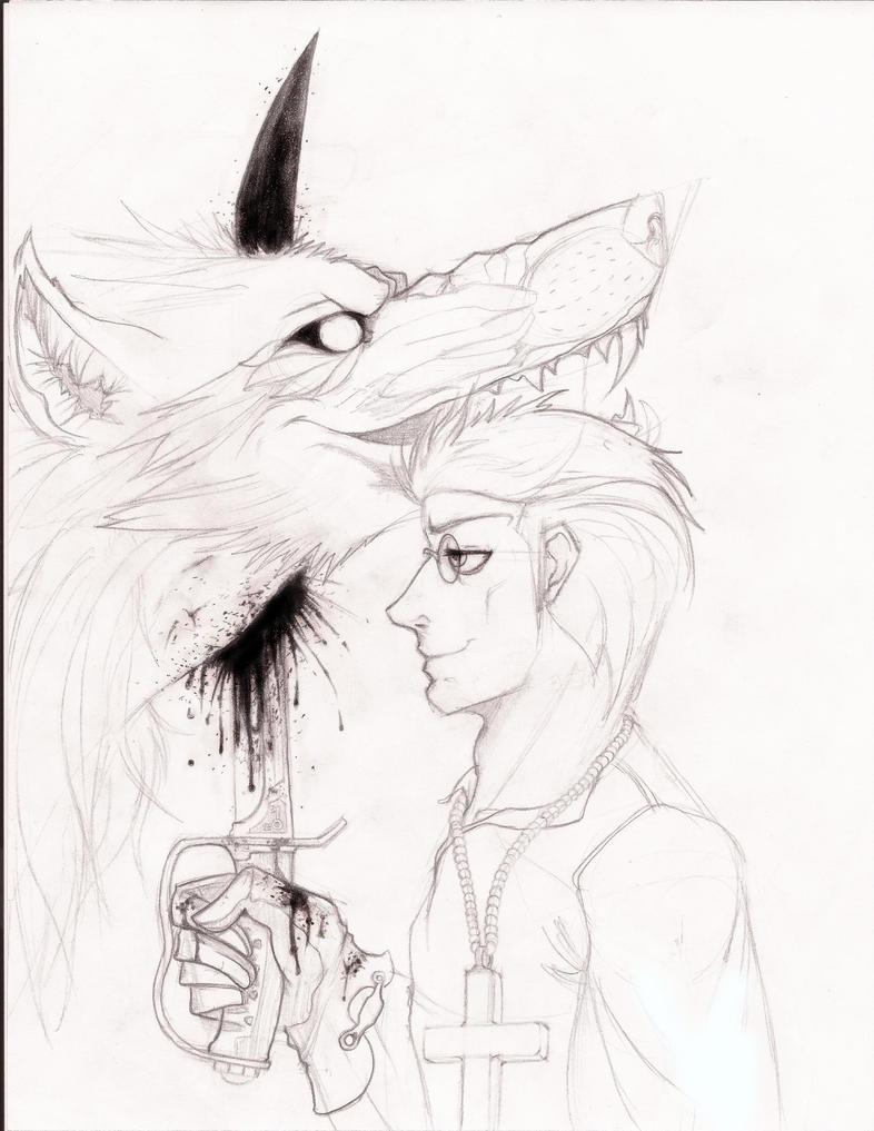 A werewolf dies. by TheLivingRedBaron