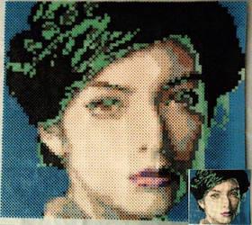 Lorde Perler Bead Portrait