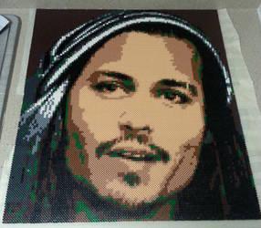 Johnny Depp Perler Portrait