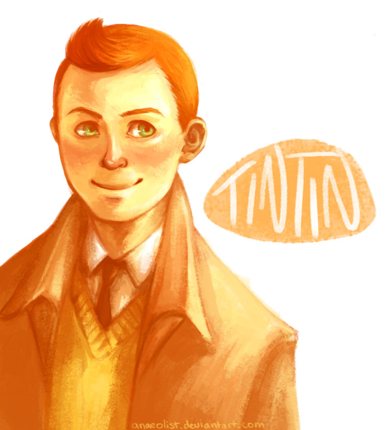 Tintin by Anaeolist