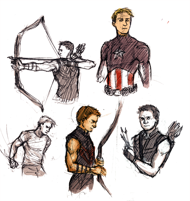 Avengers Sketches By Anaeolist On DeviantArt