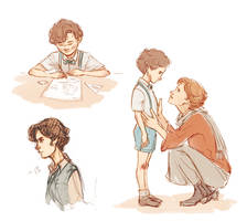 Young Sherlock sketches