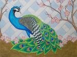 Peacock with lattice