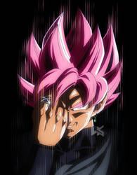 Goku Black ssj rose by Hkartworks99